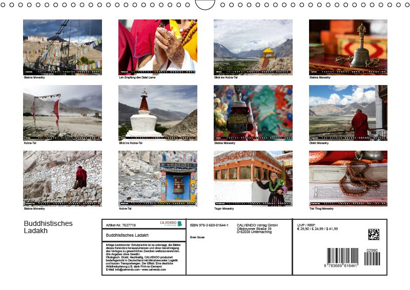 13 Index Reisekalender Buddhistisches Ladakh Indien 2019