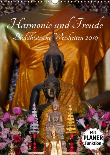 00 Cover Familienplaner Harmonie und Freude Buddhistische Weisheiten 2019