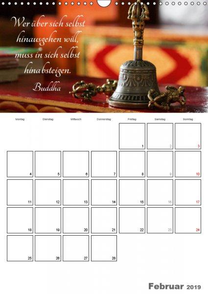 02 Februar Familienplaner Harmonie und Freude Buddhistische Weisheiten 2019