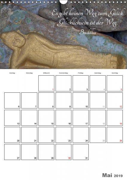 05 Mai Familienplaner Harmonie und Freude Buddhistische Weisheiten 2019