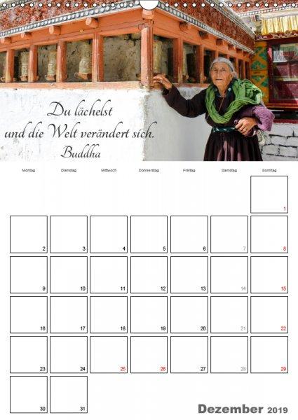 12 Dezember Familienplaner Harmonie und Freude Buddhistische Weisheiten 2019