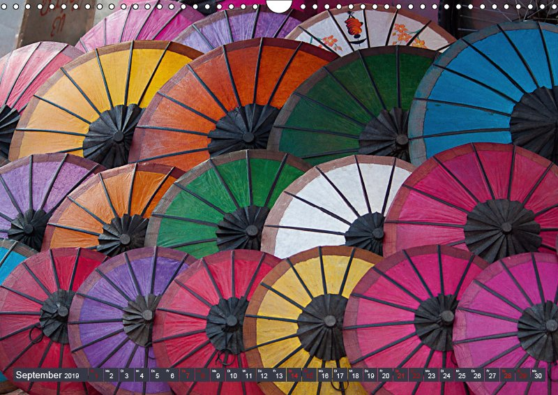 09 September Kalender Farb Shui - Farbe und Leben 2019