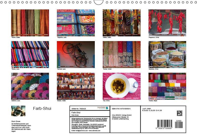 13 Index Kalender Farb Shui - Farbe und Leben 2019